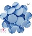 Pressions KAM - Rondes T3 Brillantes - Bleu Bébé - B20