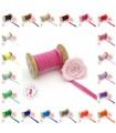 Elastique ruban plat sur cartonnette - 6 mm - 20 couleurs