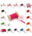 Elastique ruban plat au mètre - 6 mm - 15 couleurs