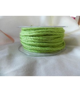 Cordelière jute verts acidulé