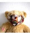 Masque de protection avec poche pour filtre - Chats - Taille M - Femme/Ado