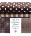 """Coupons """"Un Eté à la Campagne"""" - Coton/Lin - Chocolat - 70 x 50 cm - 2 pièces"""