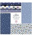 """Coupons """"Stars"""" - Coton - 40 x 50 cm - 3 pièces"""