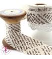 Biais - non plié - Newspaper - Beige