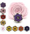 Fermoir magnétique / Aimant - Fleur en couleur