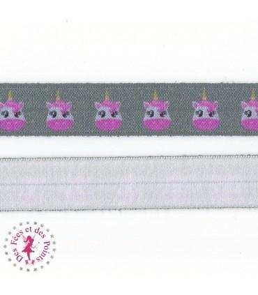 Elastique ruban - Licorne - 15 mm