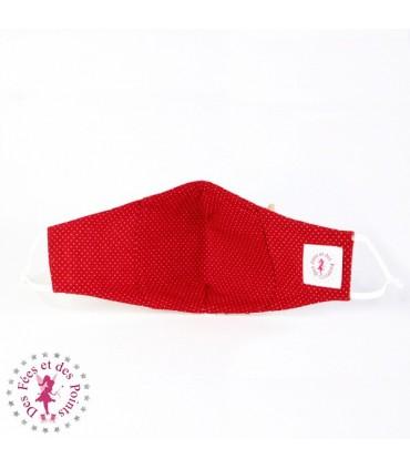 Masque de protection avec poche pour filtre - Mille Coeurs - Taille M - Femme/Ado