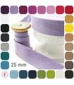 Sangle coton - 25 mm - 27 couleurs