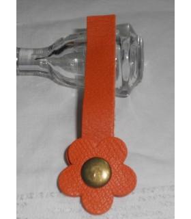 "Fermoir à pression fleur - ""Hibiscus Orange Hermès"""