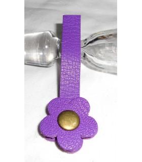 """Fermoir à pression fleur - """"Hibiscus Violette de Parme"""""""