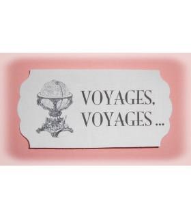 """Etiquette thermocollante """"Voyages, Voyages"""""""