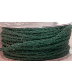 Cordelière en jute - 3 mm - Vert sapin