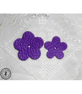Fleur en cuir - Violette de Parme