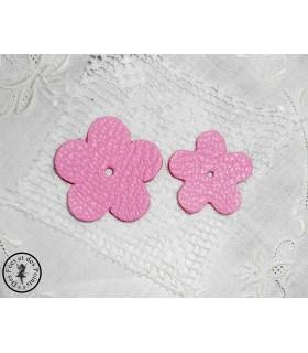 Fleur en cuir - Pink