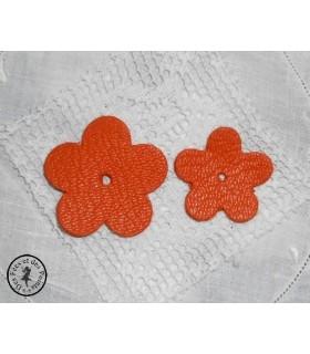 Fleur en cuir - Orange Hermès