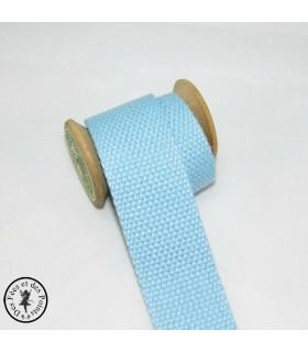 Sangle coton - Bleu clair - 30 mm