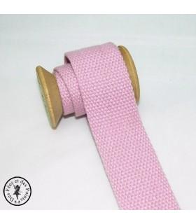 Sangle coton - Rose clair - 30 mm