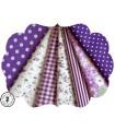 """Coupons """"Purple Rain"""" - Coton - 50 x 50 cm - 7 pièces"""