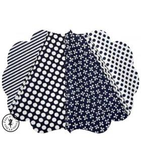 "Coupons ""Navy Blue"" - Coton - 50 x 50 cm"