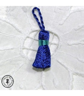 Mini pompon - Bleu / Turquoise