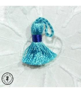 Mini pompon - Turquoise / Bleu