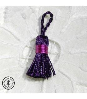 Mini pompon - Violet / Rose