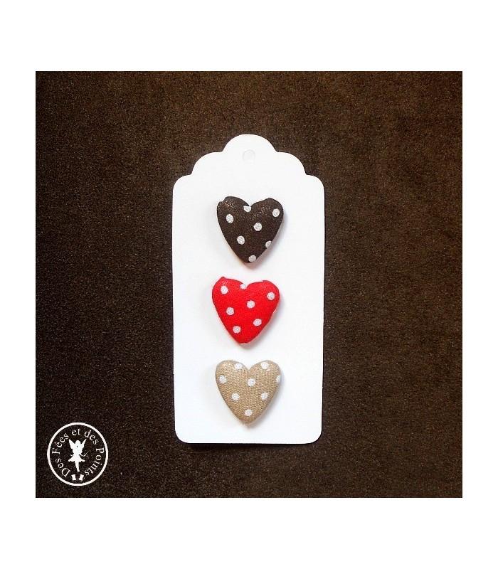 Assortiment N° 4 de boutons coeurs