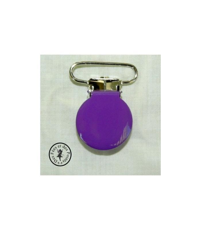 Pince métallique ronde - Violette