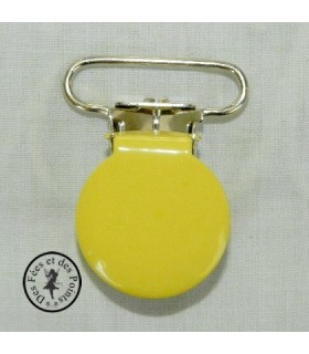 Pince métallique ronde - Jaune