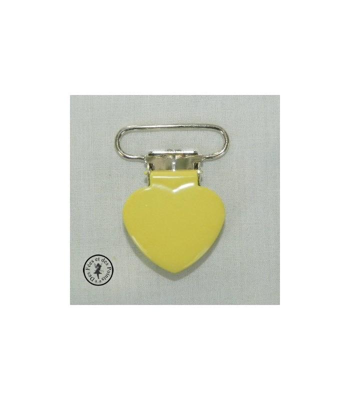 Pince métallique ronde - Jaune citron
