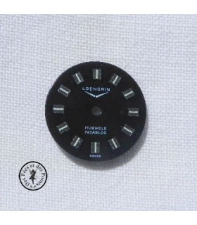 Cadran de montre noir - 18 mm