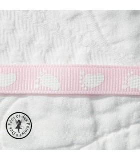 Gros grain rose bébé 0,9 cm