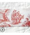 Gros grain scène romantique sépia 3,8 cm