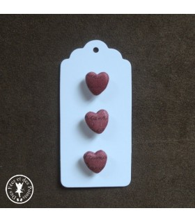 "Assortiment N° 9 de boutons ""Mini coeurs"""