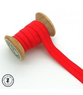 Elastique ruban - Rouge - 15 mm