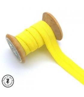 Elastique ruban - Jaune - 15 mm