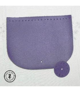 Rabat en cuir Violet