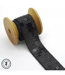 Ruban Sequins - Noir - 23 mm