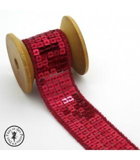 Ruban Sequins - Rouge - 23 mm