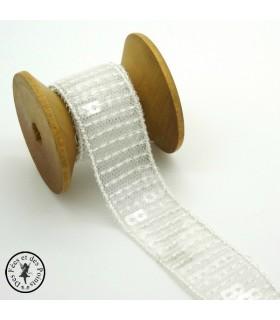 Ruban Sequins - Transparent - 23 mm