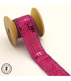 Ruban Sequins - Fuschia - 20 mm