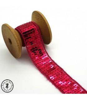 Ruban Sequins - Azalée - 20 mm