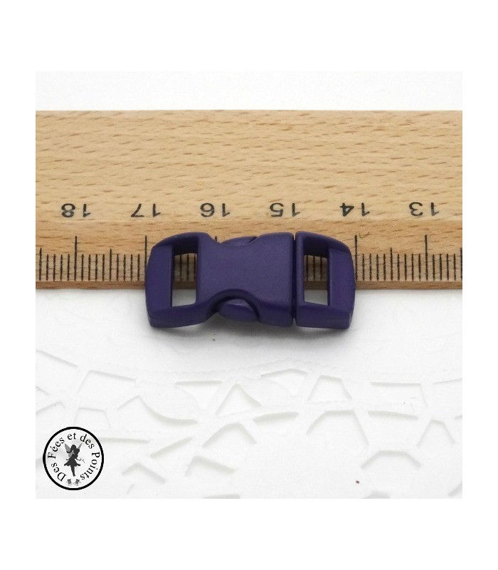 Boucle à clips - Sangle de 10 mm - Violet