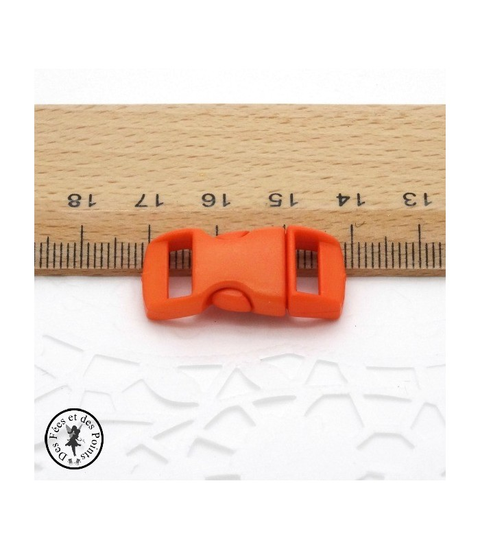 Boucle à clips - Sangle de 10 mm - Rouge