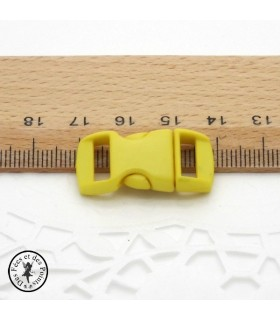 Boucle à clips - Sangle de 10 mm - Jaune