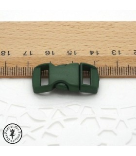 Boucle à clips - Sangle de 10 mm - Vert foncé
