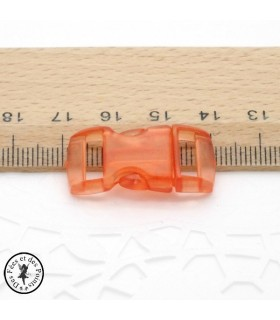 Boucle à clips - Sangle de 10 mm - Orange transparent