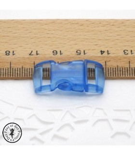 Boucle à clips - Sangle de 10 mm - Bleu clair transparent