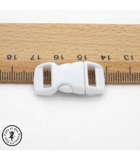 Boucle à clips - Sangle de 10 mm - Blanc
