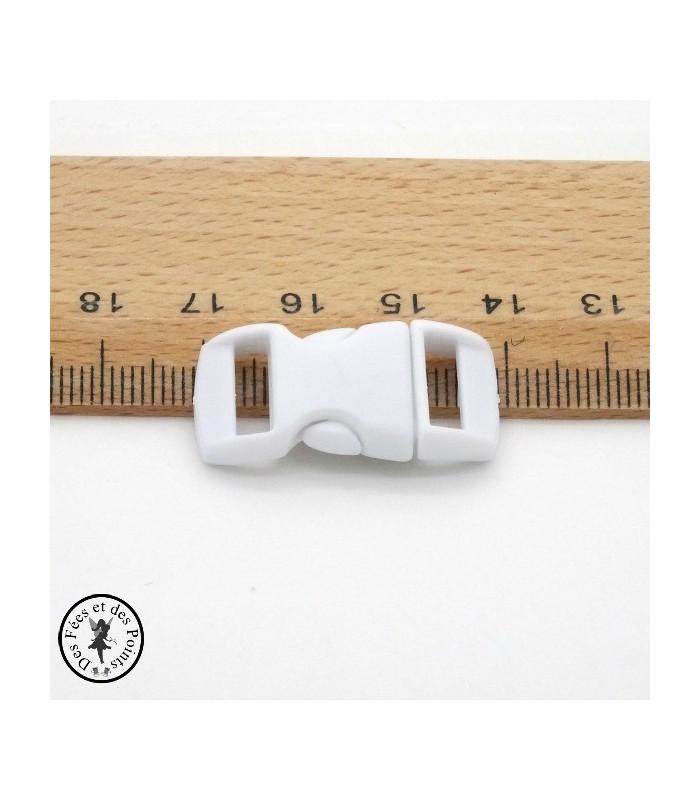 Boucle à clips - Sangle de 10 mm - Blanc